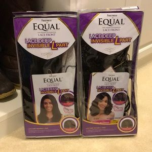 TWO NEW Freetress Equal L-Part Wigs. NEVER OPENED!